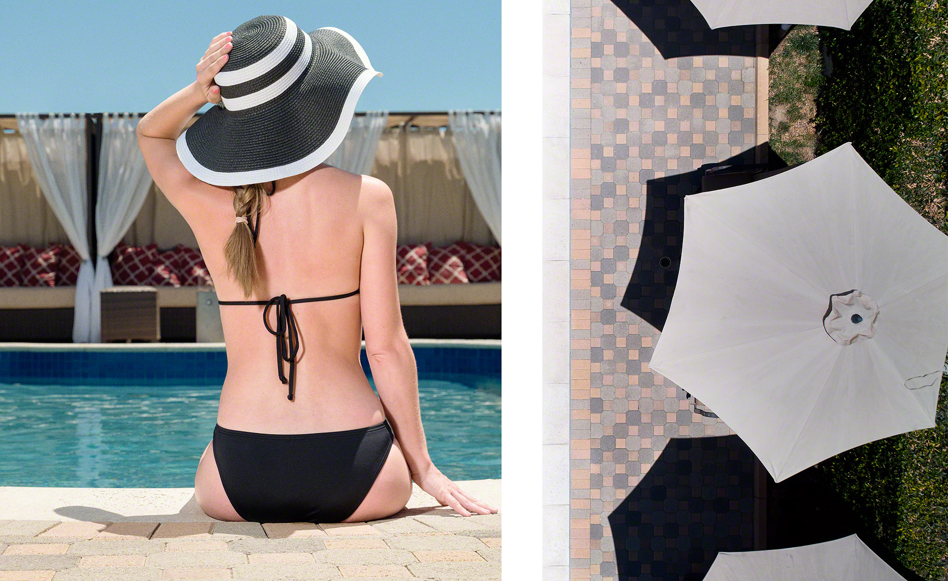 Poolside and Shapes