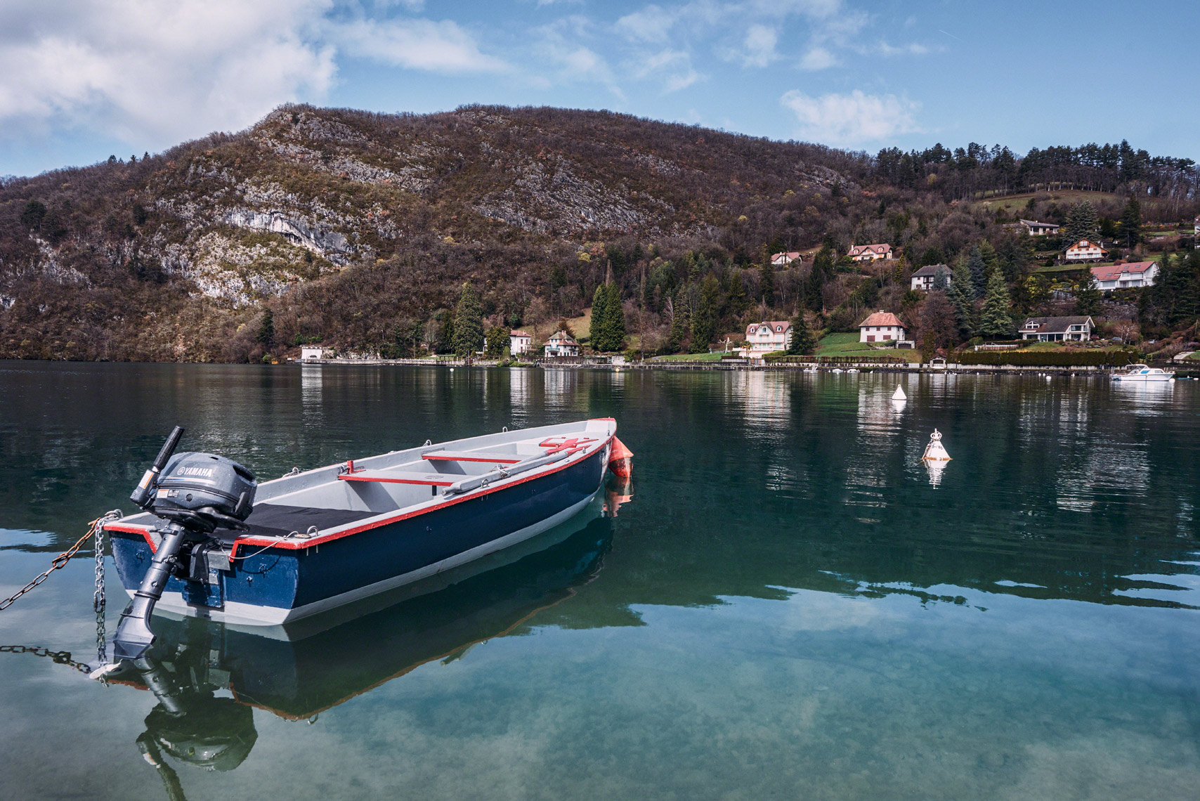 Lake Annecy and the Boat in Talloires