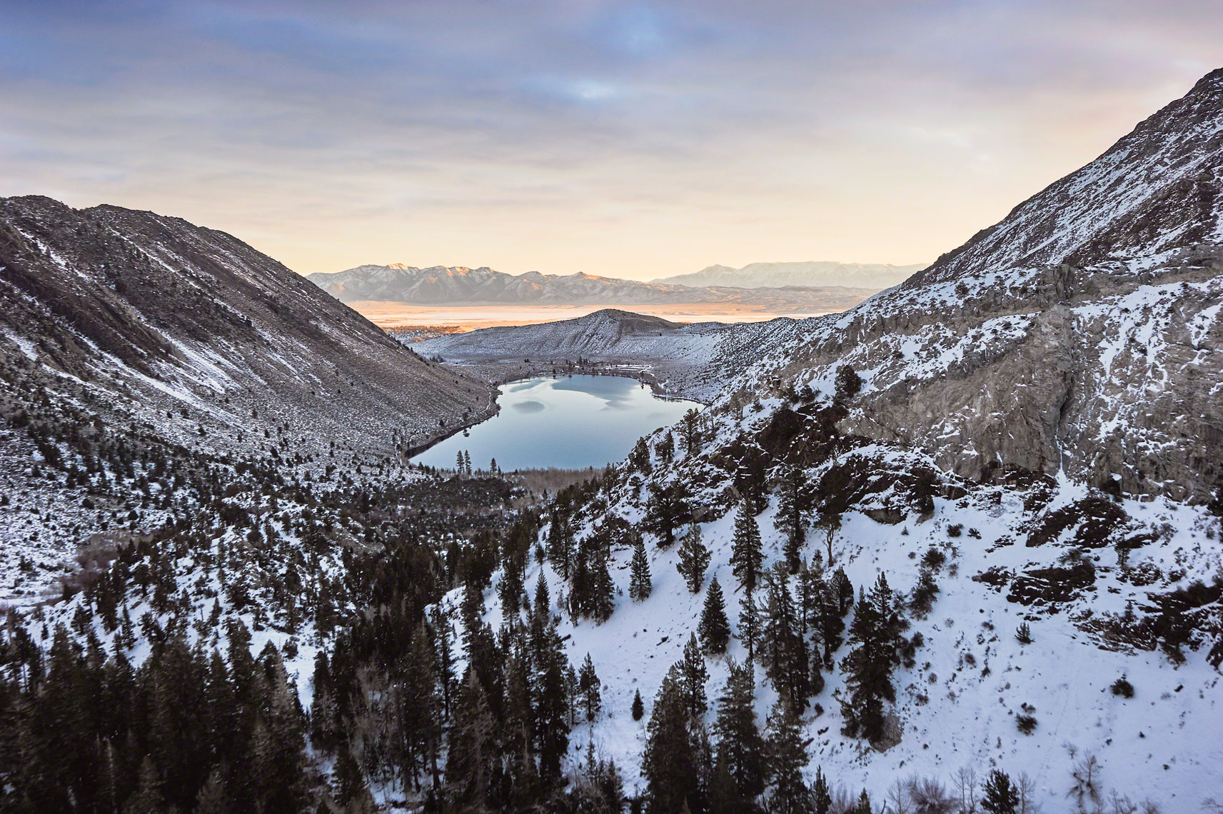 Convict Lake Aerial Photography