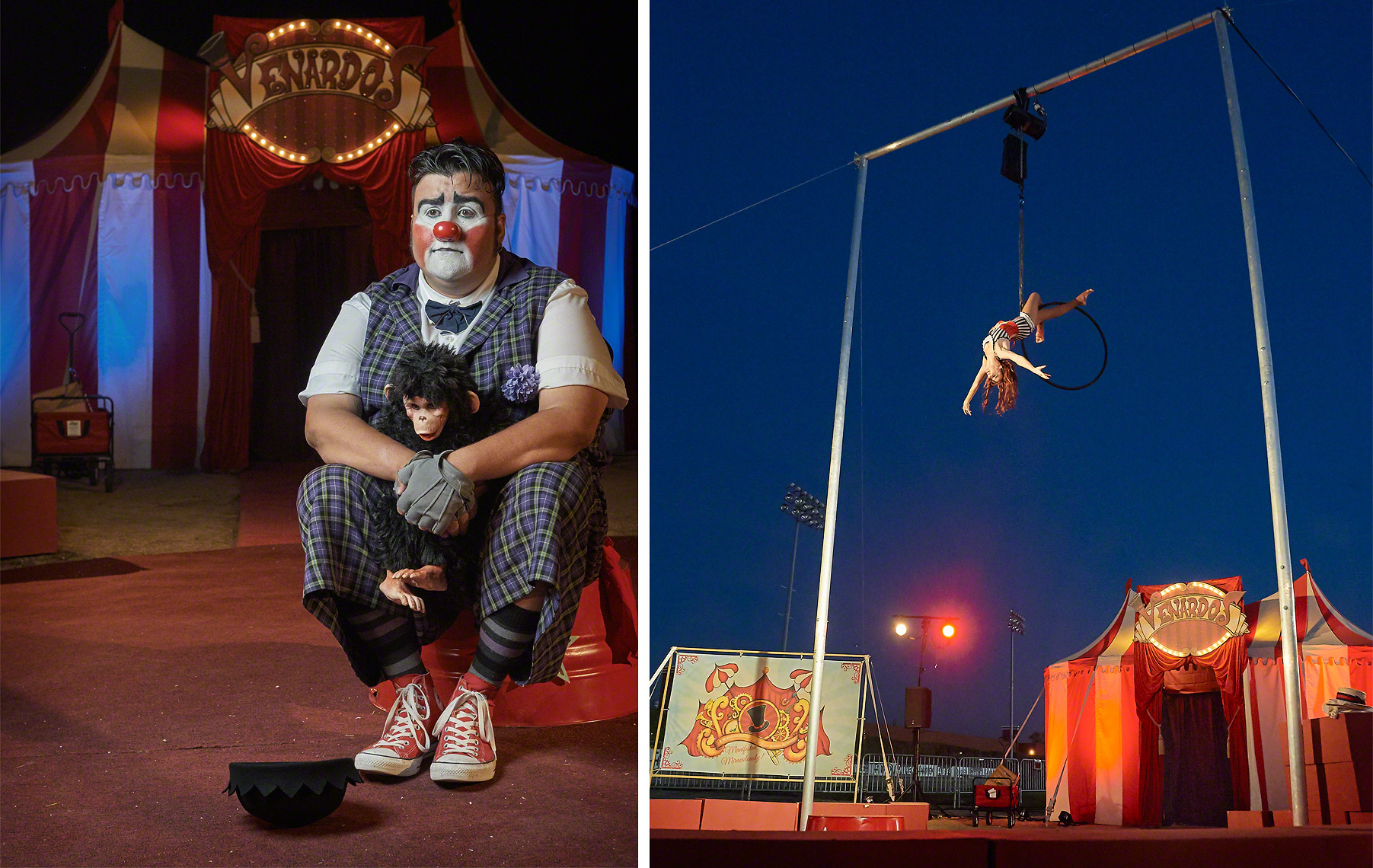 Venardos Circus Clown and Aerialist